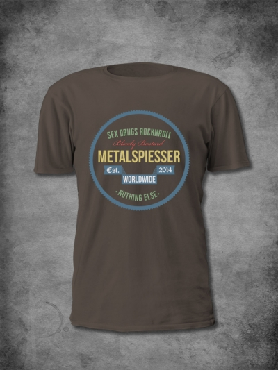 MetalSpiesser Shirt Sex Drugs Men Color