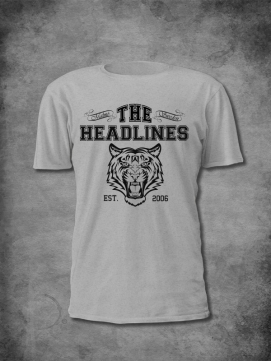 The Headlines Shirt Men Tiger Grau
