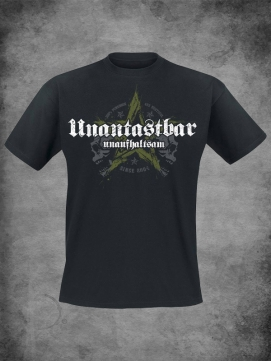 Unantastbar Shirt Men Stern Schwarz