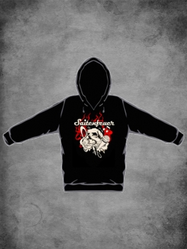 Saitenfeuer Hoodie Flaming Skull