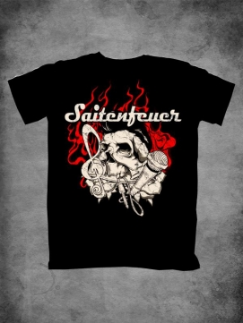 Saitenfeuer Shirt Men Flaming Skull
