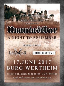 Ticket Unantastbar 17.06.2017 - Wertheim - A Night to Remember