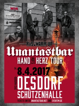Ticket Unantastbar 08.04.2017 - Oesdorf - Hand aufs Herz Tour